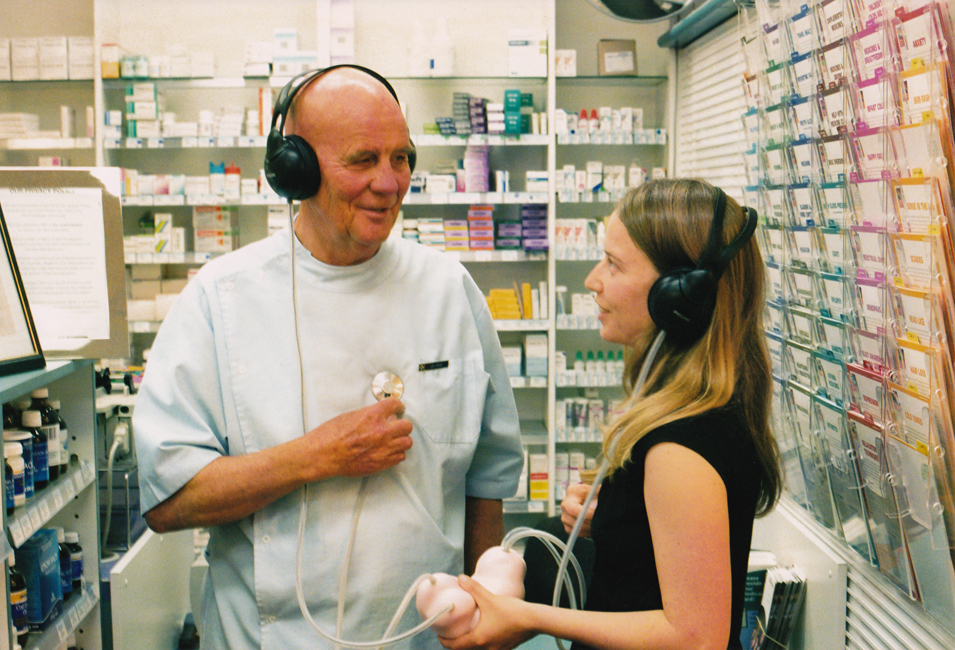 local pharmacist Jim Snow with me